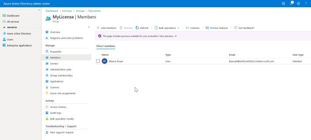 Office 365 gruppenbasierte Lizenzierung